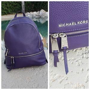 Michael Kors EUC leather purple large backpack